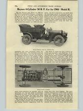 1906 PAPER AD 5 PG Article Haynes 50 HP Car Auto Automobile Model R O Specs