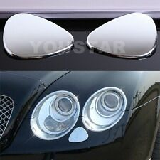 EXPRESS CHROME Headlight Jet Washer Caps BENTLEY Continental GT GTC FLYING SPUR