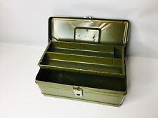 Vintage metal Climax Hamilton Metal Products Ohio fishing tackle box