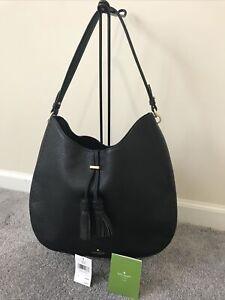 Kate Spade James Street Nori Merlot Leather Black Hobo Bag
