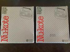 New Nu Kote Model B136 Correctable Film Typewriter Ribbon Et201 Et 221 Lot Of 2