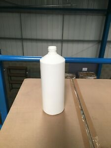 1 Litre White HDPE Bottles with White 28mm Cap Included