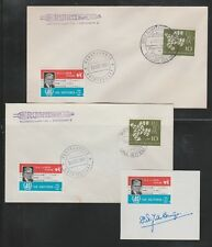 1961 Germany rocket mail covers and stamp - NRS, de Bruijn 40th anniv - EZ 43C1