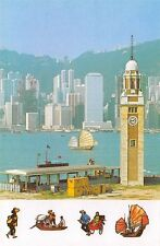 HONG KONG, CHINA, 10 PC's, HARBOR, AIRPORT, PEOPLE, BLDGS, LUX PUB, c. 1970's