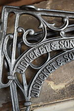 Estilo Victoriano industrial J. Duckett Hierro Estante Soportes De Gancho De Riel Rack equipaje