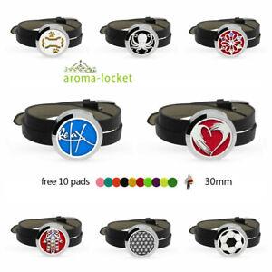 Chrome Locket Bracelet Fragrance Essential Oil Aromatherapy Diffuser Wristband