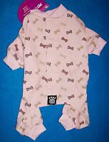 NEW (Choose Size) Pink with Multi Dog Bones Pajamas Sleepwear Dog Clothes Pet
