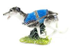 Greyhound Jewelled Dog Trinket Box or Figurine Approx 6cm H x 11cm L