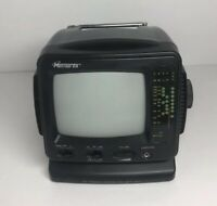Memorex Mini Personal Black And White Television With AM/FM Radio