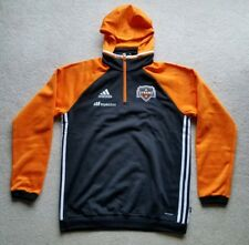 Adidas Houston Dynamo MLS Travel Men's On Field Pullover Hooded Sweatshirt SZ L