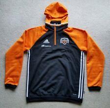 Adidas Houston Dynamo MLS Travel Men's On Field Pullover Hooded Sweatshirt SZ M