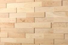"Holzwand wodewa 3D Echtholz Wandverkleidung ""Ahorn"" Paneele Wandgestaltung"