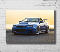 Nissan Skyline Vs Toyota Supra XXL OVER 1 METER WIDE 1 PIECE Glossy Art Poster!!