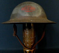 """WWI US 30th """"OLD HICKORY"""" DIVISION INSIGNIA PAINTED & PERSONALIZED M1917 HELMET"""
