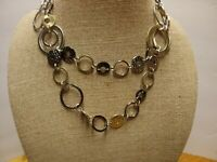 "Lia Sophia Necklace Goes to 42"" Silver Gold Necklace NICE QUALITY Piece"
