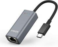 Anker USB C to Ethernet Adapter Portable 1-Gigabit Network Hub A8341 GREY