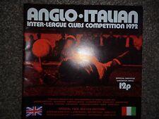 ANGLO ITALIAN CUP 1972 PROGRAMME BIRMINGHAM CITY v LANEROSSI & SAMPDORIA