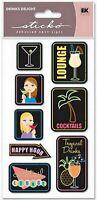 COCKTAILS Drink Food - Sticko DEBOSSED NEON SIGNS Scrapbooking Sticker