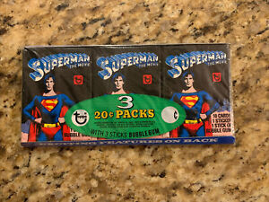 1978 Topps Superman the Movie Wax Pack Tray Grocery Rack DC Nice !!