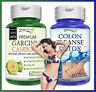 1 GARCINIA CAMBOGIA + 1 COLON CLEANSE DETOX Capsules 95% HCA Natural Weight Loss