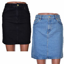 Topshop Short/Mini Regular Size Denim Skirts for Women