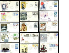 TAAF FRENCH ANTARCTIC FINE USED on COVERS FDCs 1985-91 ...PRICED AS GROUPS
