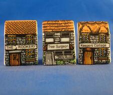 Birchcroft Thimbles -- Set of Three -- Miniature House Shape - Rural Crafts