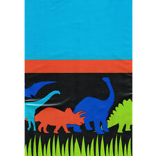 DINOSAUR Dino-Mite PLASTIC TABLE COVER ~ Birthday Party Supplies Decoration Blue
