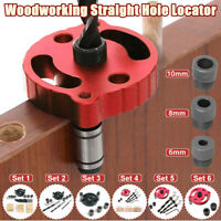 6/8/10mm Woodworking Straight Hole Locator Drill Guide Jig Vertical Drilling Set