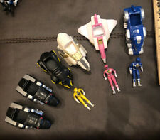 1995 ORIGINAL POWER RANGERS ACTION FIGURES AND VEHICLES.  USED