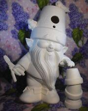 Crackpot Garden Gnome Ceramic Bisque Ready to Paint