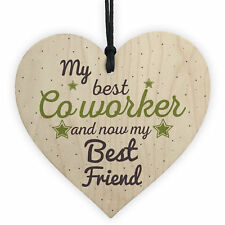 Handmade Colleague Heart Sign Co Worker Birthday Gift Best Friend Thank You