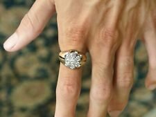 Heavy Ring In 925 Sterling Silver 2.50 Ct White Round Diamond Engagement Wedding