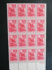 BENJAMIN FRANKLIN ('Taking Electricity from the Sky')  plate block of 16  #1073