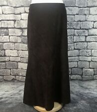 Bhs Ladies Long Maxi Skirt Paneled Velvet Feel Uk 12