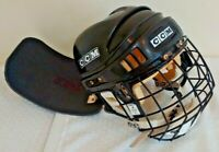 Vintage CCM Hockey Helmet Cage Neck Flap NHL SM-15 Black Adult Chin Foam Straps