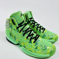 Adidas adiZero Crazy Light 2 Neon Green Camo Shoes Men's Size 9.5