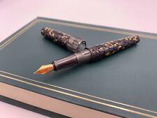 Benu Hexagon A Fountain Pen - Fine Schmidt Nib - Grey With Gold Accent