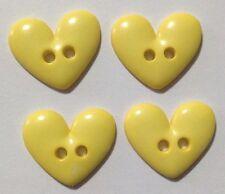 4x Medium Bright Heart Plastic Buttons - Australian Supplier
