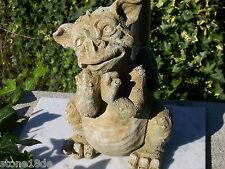 Drache 3-teilig aus Beton Gartenfigur Wurm Steinfigur Schlange Feuerdrache