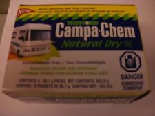 Thetford Campa-Chem Natural Dry Holding Tank Portable Toilet Deodora 2 oz 8 pack