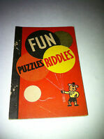 1938 FUN PUZZLES HOBBY BOOK ICE CREAM LID WHITMAN BIG LITTLE PENNY BOOK PREMIUM