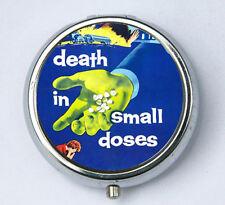 Death in Small Doses pillbox pill case box holder pulp odd punk goth