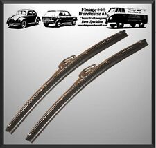 "Hillman Imp Classic 12"" Stainless Steel Wiper Blades Pair 7mm Fitment"