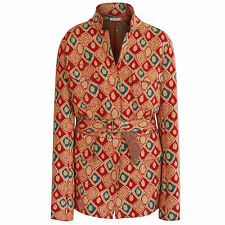 ALAIA PARIS diamond pattern virgin wool belted jacket Azzedine Alaïa coat L NEW