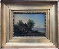 ROMANTIKER RUDOLF ALERS *1812 - PARTIE AM STARNBERGER SEE 1844 BAYERN 31 X 37