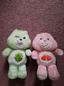 Vintage GOOD LUCK BEAR and Love-A-Lot care bears 1983 Kenner Plush Stuffed