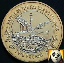2014 FALKLAND ISLANDS Battle of Falklands £2 Two Pound Rare HMS Glasgow Coin