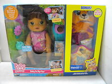 BABY ALIVE GO BYE BYE DOLL BRUNETTE BONUS NIB CRAWLS TALKS W/CLOTHES ACCESSORIES