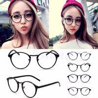 Vintage Unisex Clear Round Lens Frame Eyeglasses Men Women Retro Nerd Eyeglass